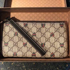 Gucci hearts wallet wristlet